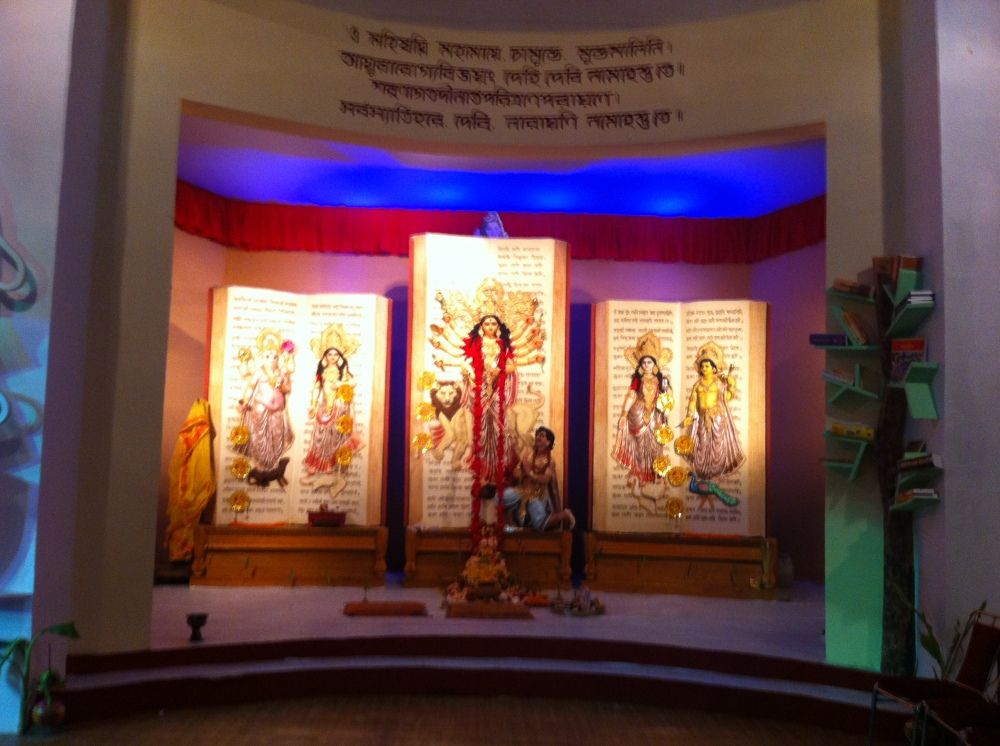 Durga Idol at one of the popular Pandals