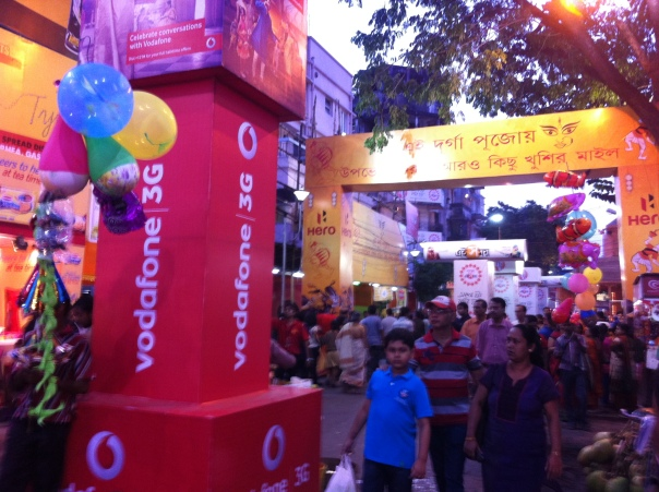 Street of Calcutta during the festivity