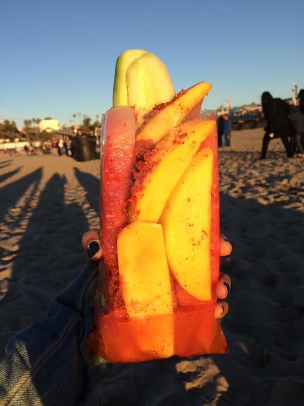 Fruits on the beach!
