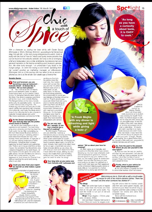 Asian Voice - Shrimoyee, Calcutta Street Food Pop Up