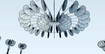 Chandelier made with Bengali hand fans