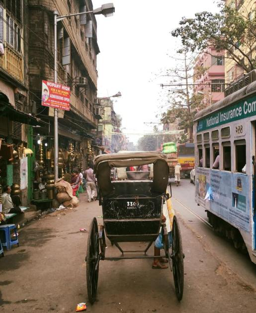 Classic Calcutta - rickshaws and trams