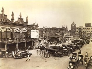 New Market in 1945 - it's changed a lot since then!